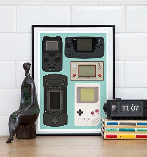 Video Game art, Retro Gaming poster, Gameboy print
