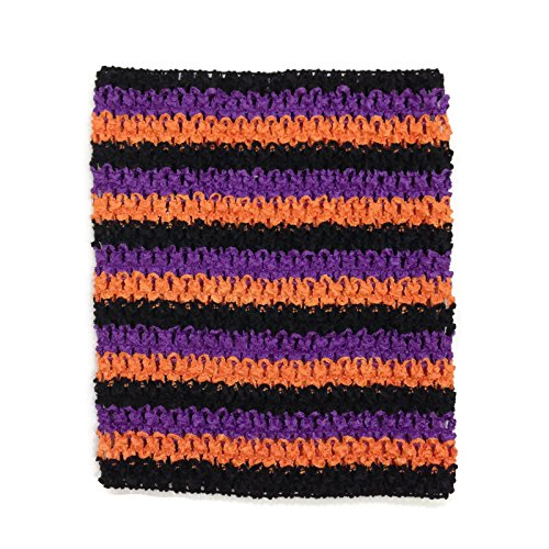 Rush Dance Crochet Tutu Fairy Princess Pettiskirt Halter Top (One Size, Orange/Purple/Black (Halloween)) -