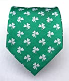 100% Silk Woven Kelly Green St. Patrick's Day Tie