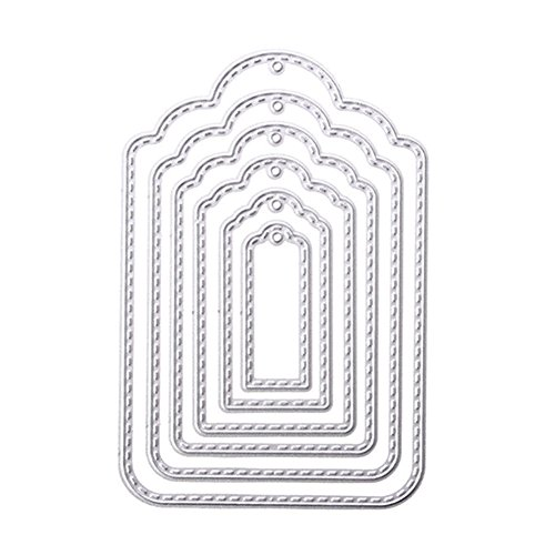 Rokoo Accrochez Étiquette en métal coupe pochoirs pochoir pour Scrapbooking gaufrage album photo bricolage carte de papier d'artisanat