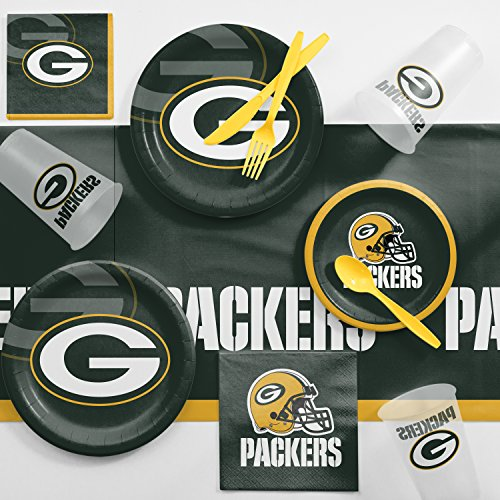 Creative Converting Green Bay Packers Game Day Party Supplies Kit ()