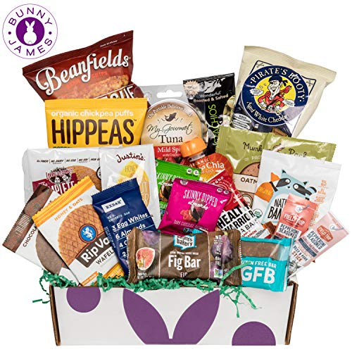 Healthy Snacks Sampler Gift Box: Variety Of Sweet & Savory Gourmet Food Snacks Care Package (Tray Easter Veggie)