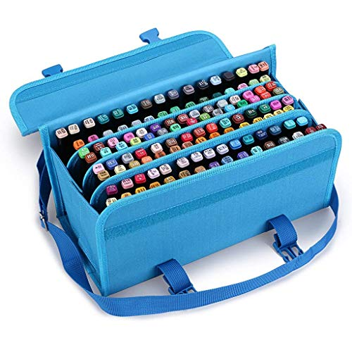 TOOGOO Marker 120 Holders Organizer Case Storage So On Fits from 15Mm to 22Mm Diameter Blue by TOOGOO (Image #6)