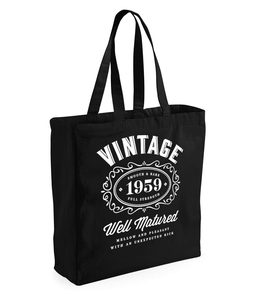 60th Birthday 1959 Keepsake Gift Vintage Bag for Women Novelty Shopping Tote