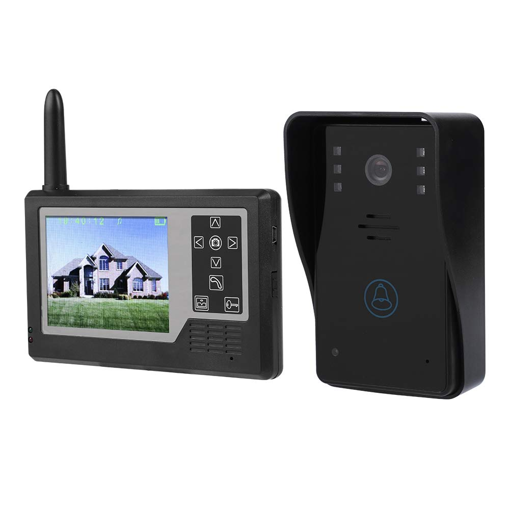 3.5inch Video Intercom Doorbell TFT All-Digital Monitor Smart Door Phone Entry Intercom System Kit with 12 Chord Music Ringtones, IR Night Vision, Waterproof for Home Security (1 Doorbell + 1 Viewer)
