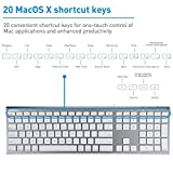 Macally Ultra-Slim USB Wired Computer Keyboard for Apple MacBook Pro/Air, iMac, Mac Mini, Mac Pro, Windows PC Laptops/Desktops and Notebooks | Plug and Play - No Drivers | Silver Finish (ACEKEYSG)