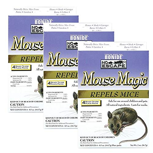 Bonide 865 4 Count Mouse Repellent, 2-Ounce 3 - Pack