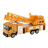 ELECTROPRIME 1:64 Diecast Telescopic Crane Lifter Truck Model Car Kids Educational Toy