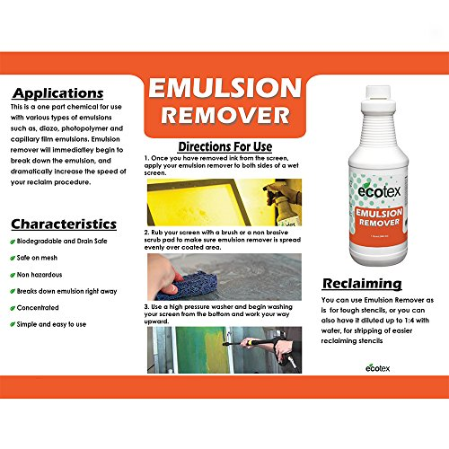 Ecotex Emulsion Remover - Industrial Screen Printing Emulsion Remover (Quart)