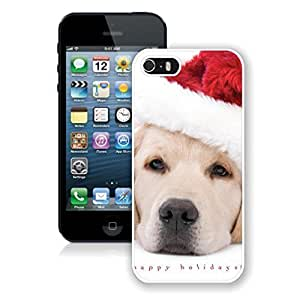 2014 Latest Christmas White Dog With Red Hat For SamSung Galaxy S4 Phone Case Cover Case For SamSung Galaxy S4 Phone Case Cover For SamSung Galaxy S4 Phone Case Cover White PC Cover