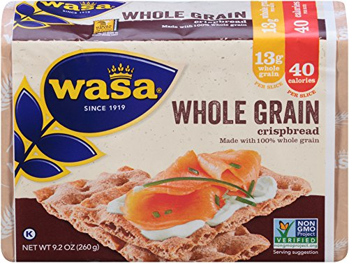 Wasa Whole Grain Crispbread, 9.2 Ounce (Pack of 12) ()