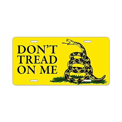 CafePress - Dont Tread On Me Aluminum License Plate - Aluminum License Plate, Front License Plate, Vanity Tag for cheap