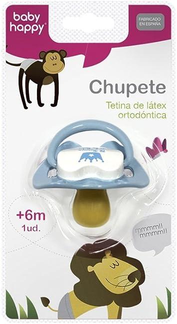 Baby-Happy 1703496031 - chupete anatómico lã¡tex de 6 a 12 meses baby happy: Amazon.es: Bebé