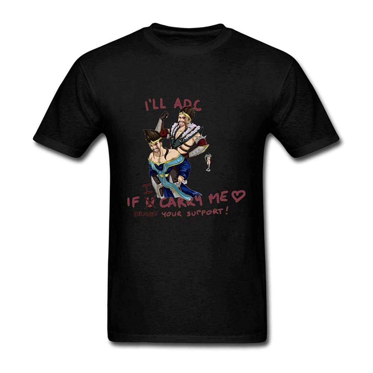 FQYPMC Man 100% Cotton Draven Your Support Tshirts