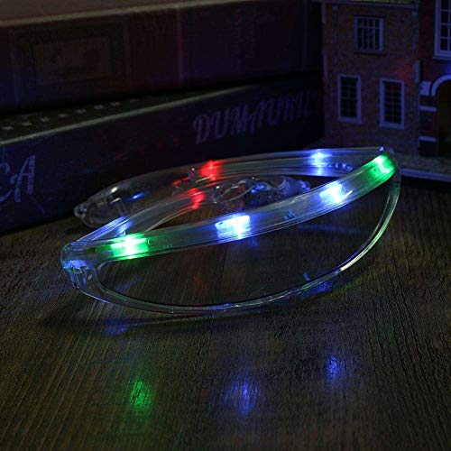 bb188fa9d6 1 Pair of LED UFO Clear Multi Color Space Light Up Party Glasses   Amazon.co.uk  Toys   Games