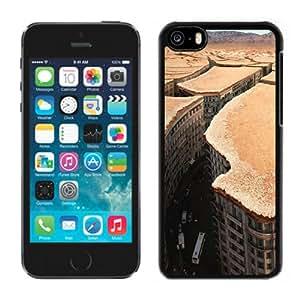 NEW Unique Custom Designed iPhone 5C Phone Case With Desert City Overview_Black Phone Case