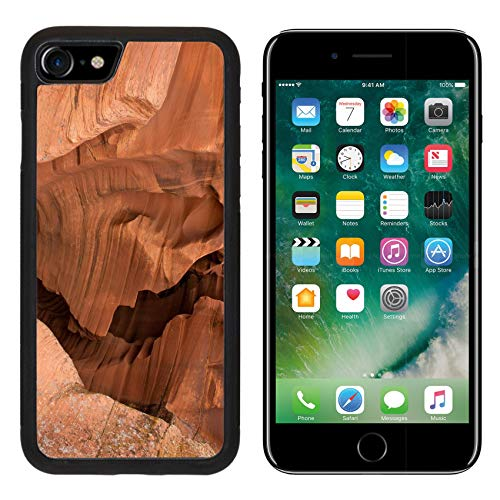 Liili Premium Apple iPhone 8 Aluminum Backplate Bumper Snap Case Image ID: 24597523 Antelope Canyon red Sandstone Wall Abstract Pattern Page Arizona