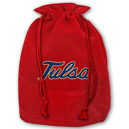 University Of Tulsa 4453q Santa Sack Large Gift Bags Christmas Bag Portable Funny Decorative Baskets For Christmas Party Gift Wrapping