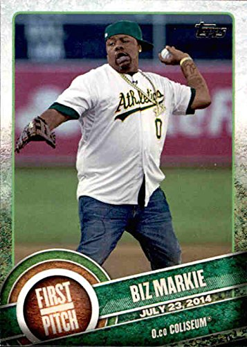 Buy cheap 2015 topps first pitch fp05 biz markie oakland athletics