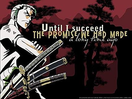 Amazoncom One Piece Poster Roronoa Zoro Prints Wall Decor