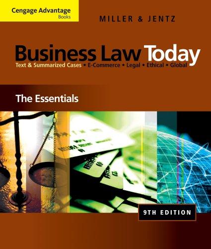 Blackboard Printed Access Card - Bundle: Cengage Advantage Books: Business Law Today: The Essentials, 9th + WebTutorTM on Blackboard 1-Semester Printed Access Card