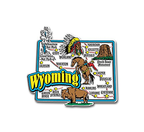 Wyoming State Jumbo Map Magnet