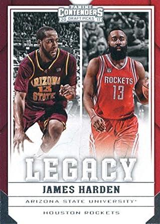 c4d66e3991ae Amazon.com  2017-18 Panini Contenders Draft Picks Legacy  16 James Harden  Arizona State Sun Devils Houston Rocke  Collectibles   Fine Art