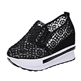 Tootu Increased Net Shoe Women Breathable Mesh Slope Thick Platform Shoes