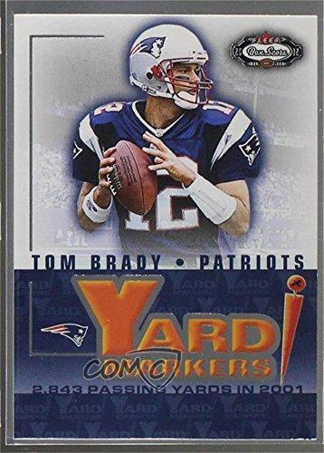 2002 Fleer Box (Tom Brady (Football Card) 2002 Fleer Box Score - Yard Markers #1YM)
