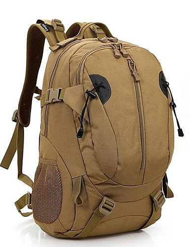 ZQ 30 L Rucksack Camping & Wandern Draußen Wasserdicht Braun Nylon