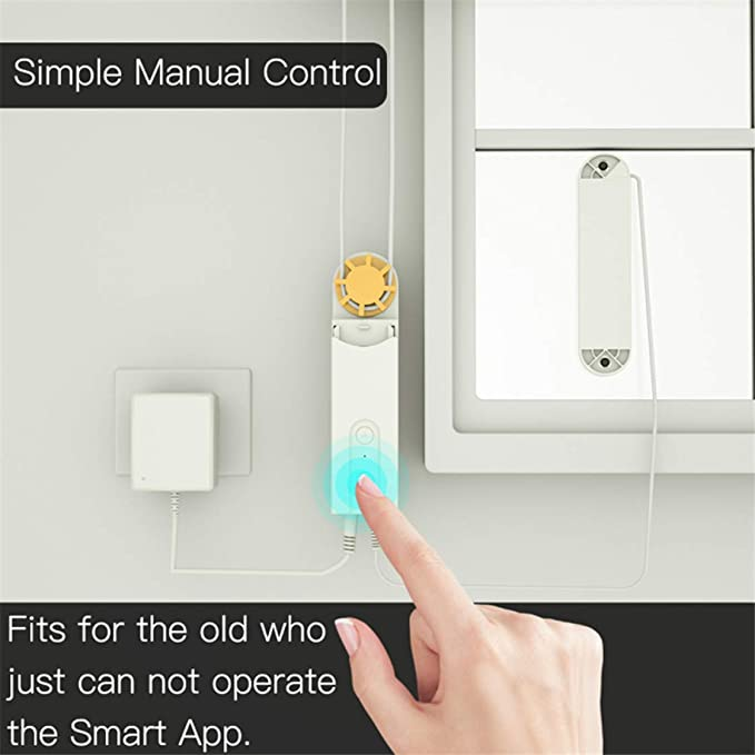 RuleaxAsi WiFi DIY Smart Motorized Chain Roller Blinds Shade Shutter Drive Motor Compatible with Alexa Google Home APP RF Voice Control Week Programmable