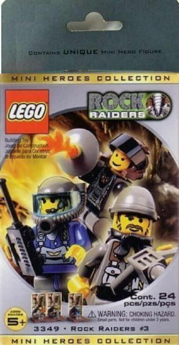 Lego ROCK RAIDERS Mini Figure 3 Pack Set #3349 Mini Heroes Collection #3