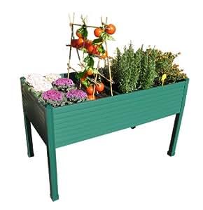 Mesa de cultivo 120x60x75 cm. Color: Verde