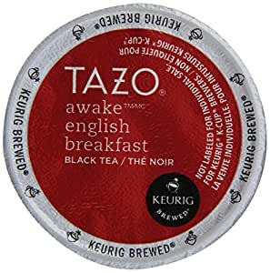 Tazo Tea K-Cup Awake, K-Cup Portion Pack for Keurig K-Cup Brewers, 10- Count (Pack of 3)