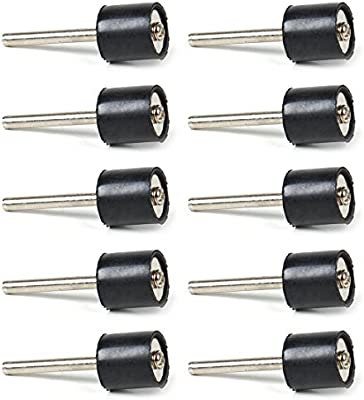 10 pcs 1//2 Drum Rubber Mandrels 3mm Shank for Sanding Sleeve for Rotary Tool