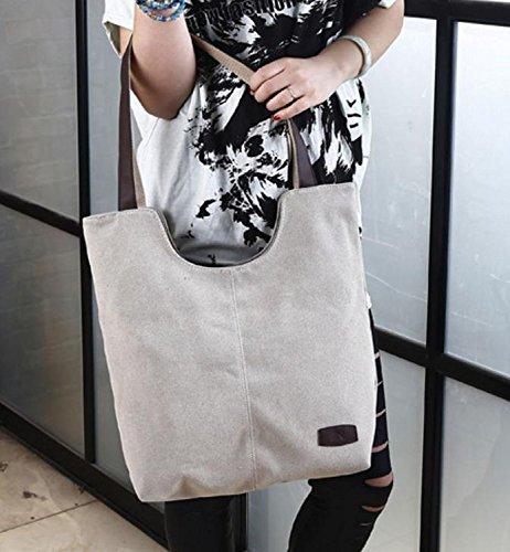 black Blue Washable SELECTIA plain Bag Unisex backpack cotton Men for School canvas Cotton Beige clear bulk assortment Bag 2 Shoulder Canvas Durable Tote beach Heavy Duty Women Navy OwFOqTC