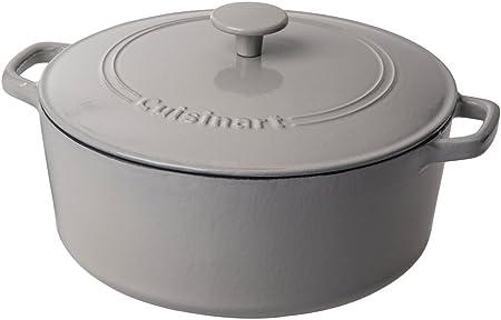 Cuisinart Cast Iron Casserole, Dutch Oven, 7-Quart, Cool Grey
