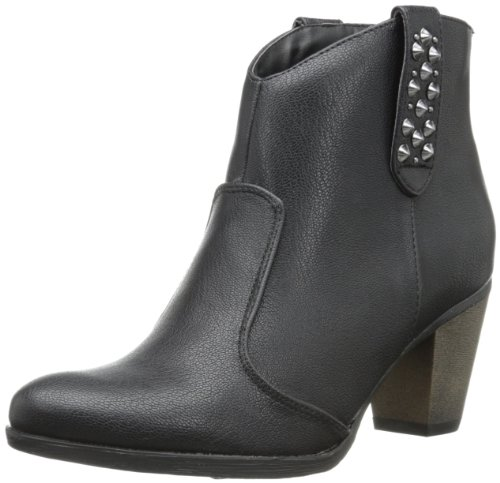 C Etichetta Donna Sandra-7 Western Boot Nero