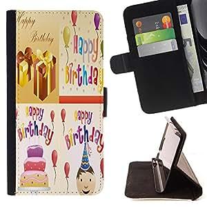 King Case - FOR Samsung Galaxy S4 Mini i9190 - Life is a span - Prima caja de la PU billetera de cuero con ranuras para tarjetas, efectivo Compartimiento desmontable y correa para la mu?eca