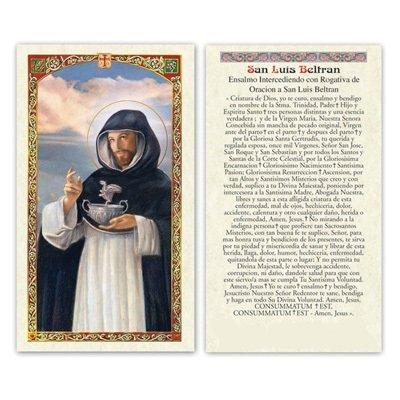 Set de 2 Santa San Luis Beltrán Veladora con oracion contra ...