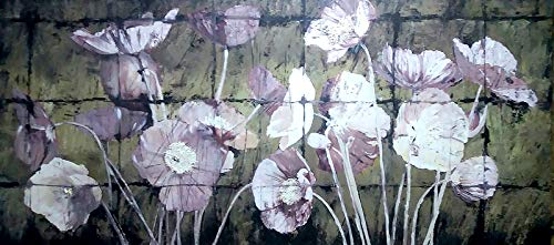 Price comparison product image Flowers Hand-Painted Unique Wall Art,  Canvas Oil Painting,  Wall Decor Interior Design for Living Room Bedroom Office Kitchen,  Stretched Ready to Hang (TP1007