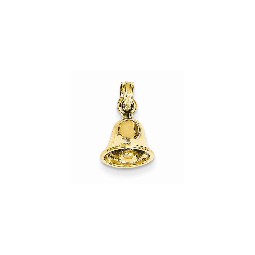 Best Quality Free Gift Box 14k 3-D Moveable Bell Pendant