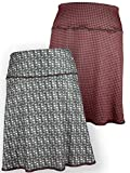 Green 3 Novelty Reversible Skirt - Womens Recycled Skirt, Made in The USA (Clothes Cat & Houndstooth, X-Large)