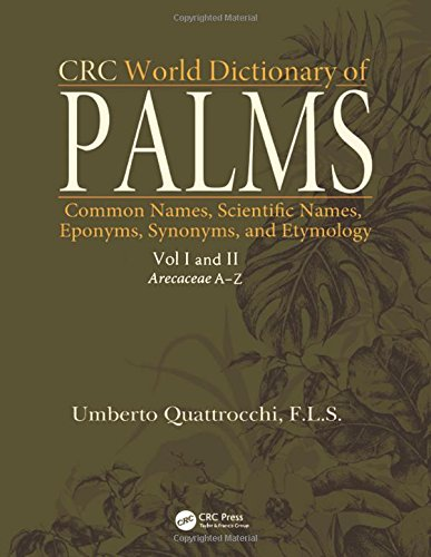CRC World Dictionary of Palms: Common Names, Scientific Names, Eponyms, Synonyms, and Etymology (2 Volume Set) by CRC Press