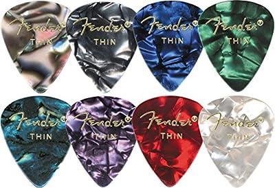 Fender Accessories 351 Premium Guitar Picks - Medium Green Moto -