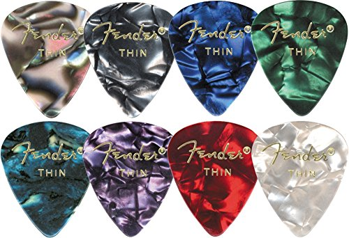 Fender 351 Premium Guitar Picks - Med Ocean Turquoise - 12-Pack Fender Ocean Guitar