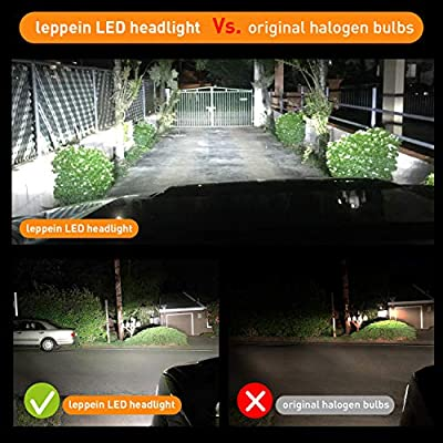 9004/HB1 LED Headlight Bulbs leppein S Series Dual Hi/Lo Beam 24xCREE Chips 6500K Cool White 6000LM Halogen Replacement Conversion Kit-1 Pair: Automotive