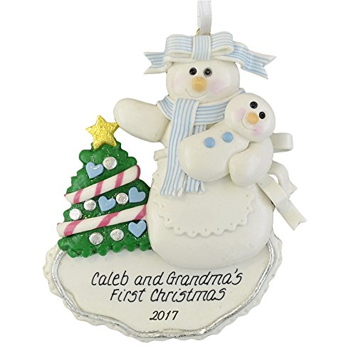 First Christmas Grandmother and Grandson Personalized Ornament - by Calliope Designs - 4.5