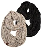 S1-6033-2-0667 Infinity Scarf Bundle - 1 Confetti Black, 1 Conf Oatmeal (2 Pack)