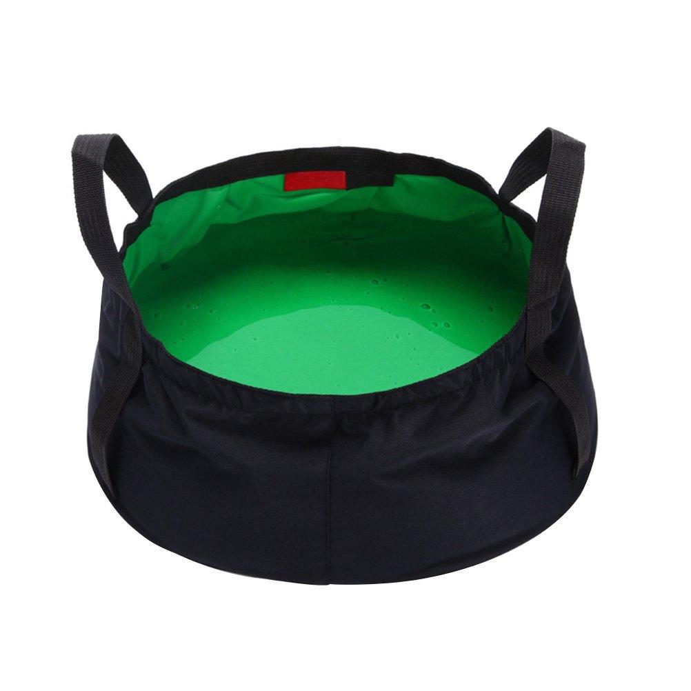 WINOMO 8.5l Collapsible Wash BasinアウトドアBasinバケットのキャンプハイキング旅行釣り洗濯(グリーン)   B0759R7X3P